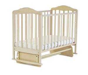 174007 Кровать детская Берёзка (обуск.боковина, маятник,накладка ПВХ) орех (20 кг)