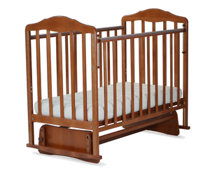 124007 Кровать детская Берёзка (автостенка, маятник, накладка ПВХ ( орех) (20 кг)