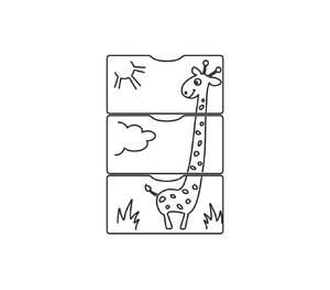 540039-1 Кровать детская СКВ 5 Жираф, опуск.бок.,маятник 4 ящ.беж+бел  (74,5 кг)