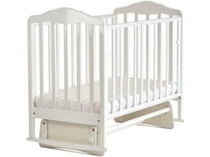 124001 Кровать детская Берёзка (автостенка,маятник,накладка (ПВХ  белый) (20 кг)