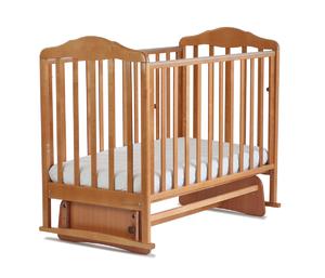 174006 Кровать детская Берёзка (опуск.боковина,маятник,накладка ПВХ (бук) (20 кг)