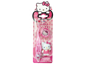 Зубная щетка Hello Kitty 3D дорожная с брелоком 81-11-81903-1