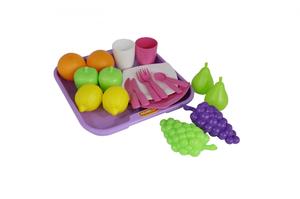 46970 Набор продуктов №2 с посудкой и подносом (21 элемент) (в сеточке)