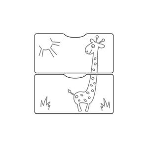 550038-1 Кровать детская СКВ-5 Жираф, опуск.бок., маятник, полка, 3 ящика, венге-белый