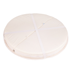 Матрац-трансформер в круглую кроватку (комплект с наматрасниками) d65. L125