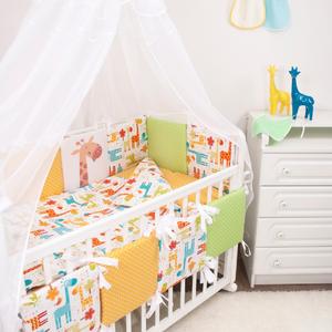 """Комплект в кроватку 18 пр. """"Апельсиновый жираф"""""""