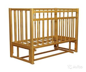 """Кровать детская """"VDK-Magiсo mini"""" Кр1-03 м маятник с планкой опускания и стопором (берёза)"""