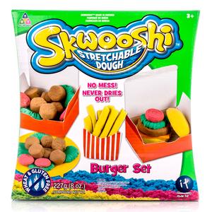 """Skwooshi s30021 Набор для творчества  """"Бургер"""" - масса для лепки и аксессуары"""