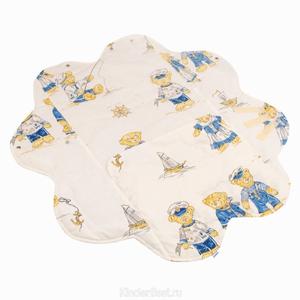"Одеяло конверт ""Мишки морячки"" в коляску и автокресло, мод.Солнце"