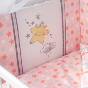 """Борт в кроватку """"Звездные дорожки"""""""