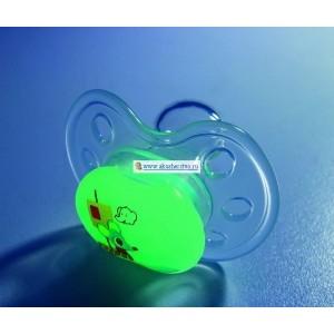 Bebe Confort Пустышка силикон физиологическая, ночная, 6-36м, 2шт, 30001157
